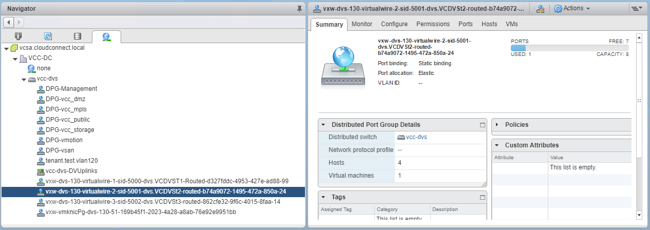 NSX virtual wires