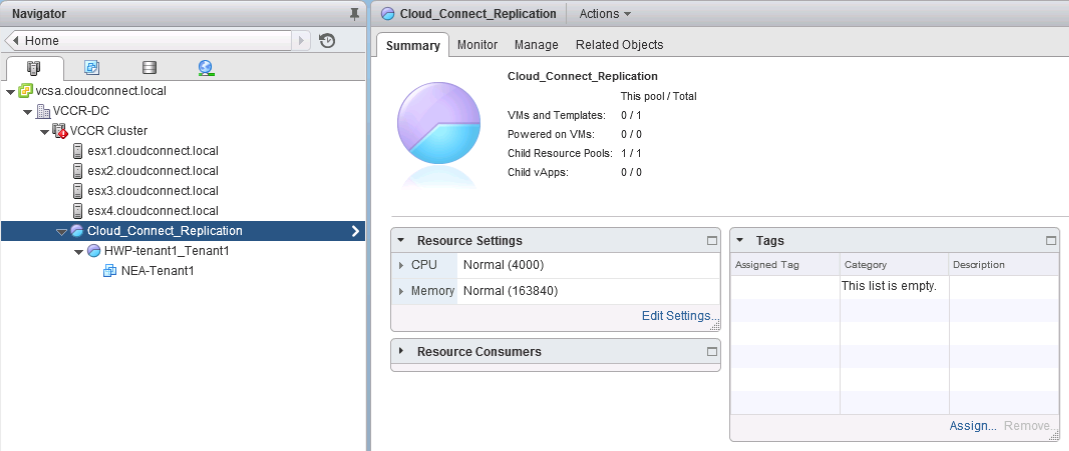 Cloud Connect Replication Resource Pool