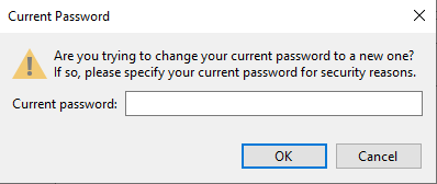 Confirm current password