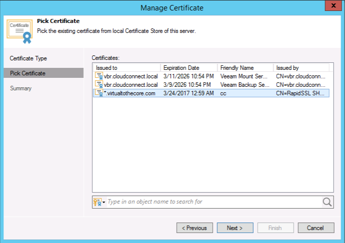 Pick the new wildcard certificate