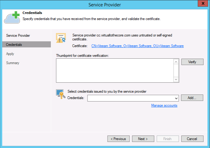 warning when using self-signed certificates
